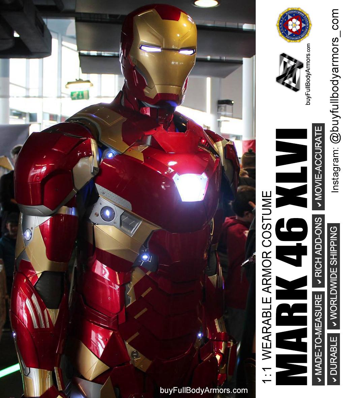 WEARABLE IRON MAN MARK 47 XLVII ARMOR COSTUME – the most